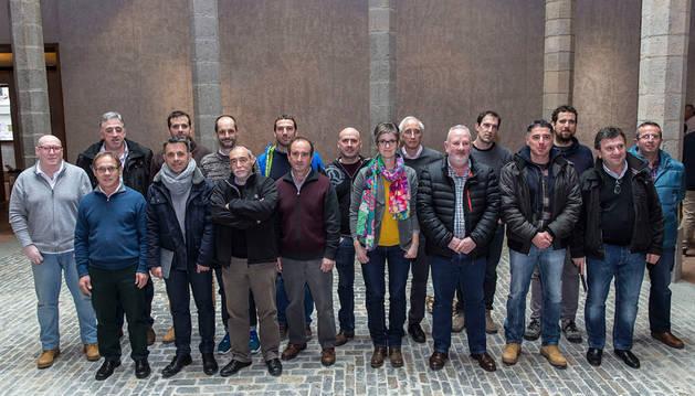 Los alcaldes y la alcaldesa de los municipios integrados en el TUC.