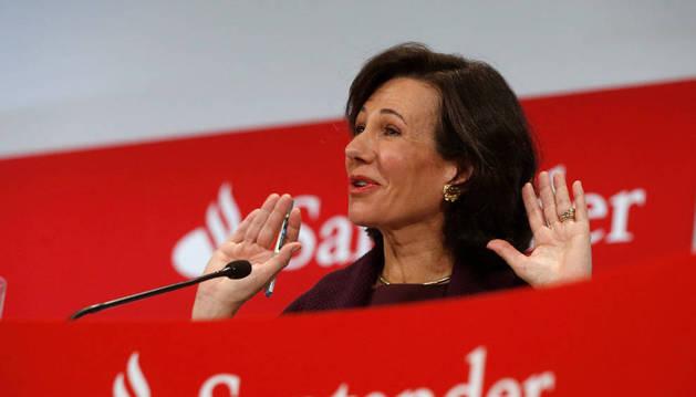 La presidenta del Banco de Santander, Ana Botín.