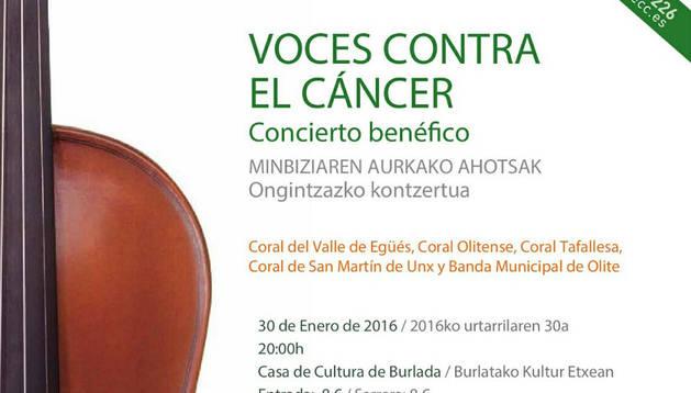 'Voces contra el Cáncer', concierto benéfico en la Casa Cultura de Burlada