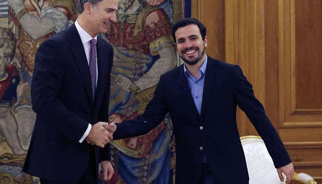 El Rey recibe en audiencia en el Palacio de la Zarzuela al diputado de Unidad Popular-IU Alberto Garzón.