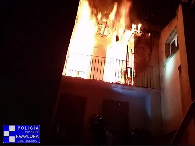 Incendio en la calle del Carmen