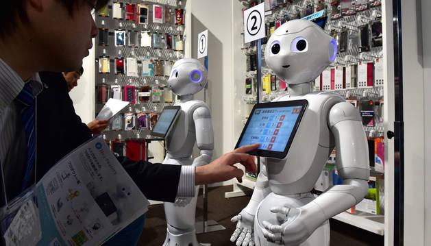 El robot japonés Pepper.