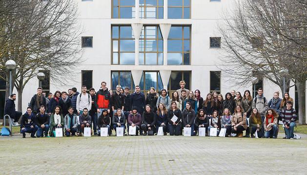 Parte de los estudiantes extranjeros de intercambio.