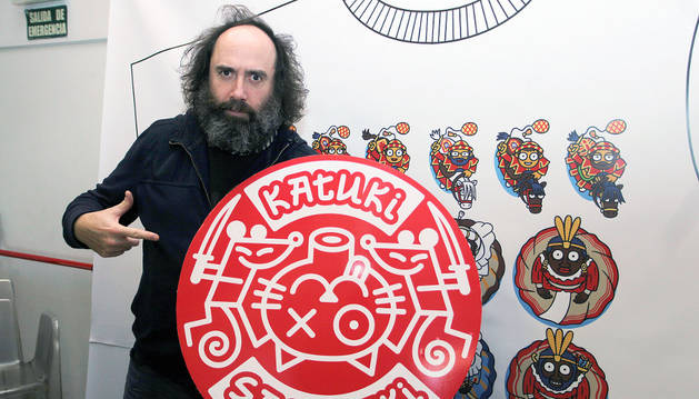 Mikel Urmeneta en la presentación de Katuki Saguyaki.