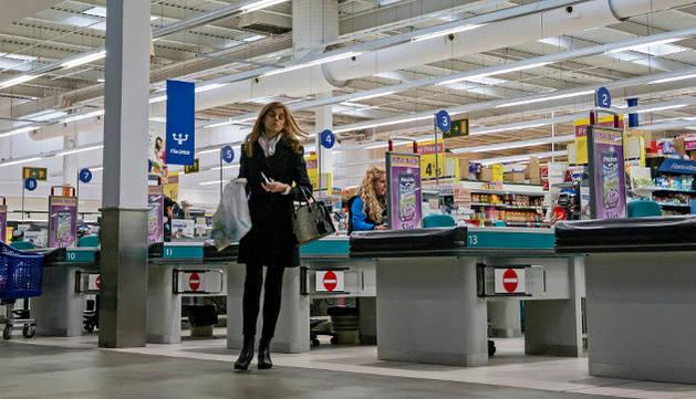 El hipermercado Carrefour Las Cañas de Viana.
