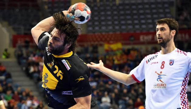 Antonio García, máximo goleador contra Croacia.