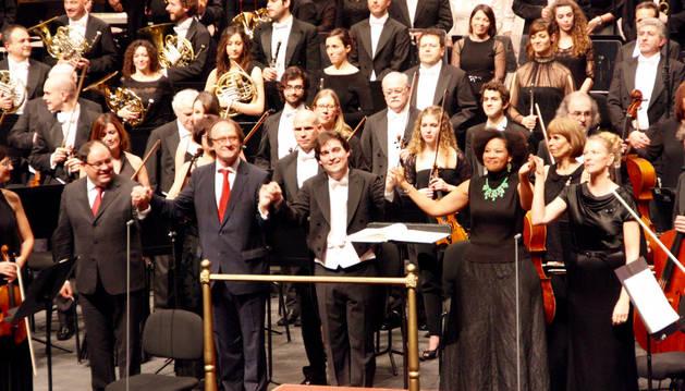 Concierto del Orfeón en el Auditorium de Palma de Mallorca.