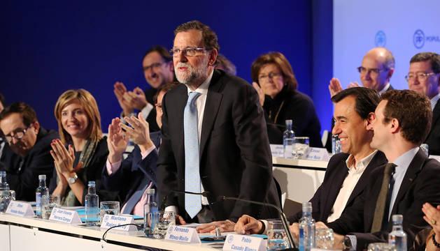 Rajoy, en la junta directiva del PP de Castilla y León.