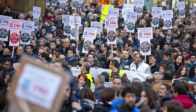 Manifestación en defensa de TRW