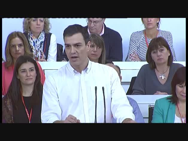 Intervención de Sánchez en el Comité Federal del PSOE