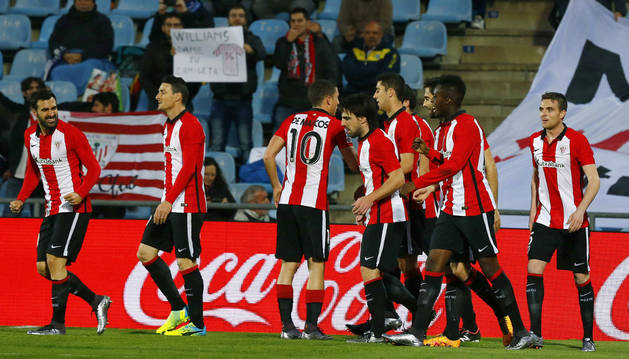 El Athletic celebra el gol de Williams.