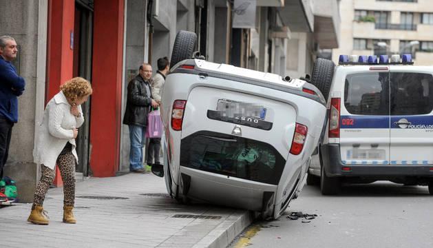 El viernes se vivió un aparatoso accidente en la ciudad de Ourense.