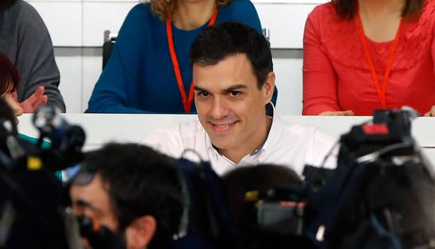 Pedro Sánchez, durante la reunión del Comité Federal del PSOE en la sede del partido en la calle Ferraz.