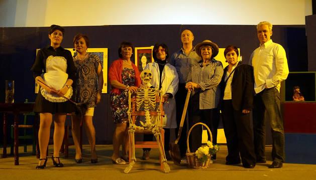 Vanesa Alcega, Cruz García, Aurori Rodríguez, Isabel Ruberte, Fermín Sánchez, Elena Madurga, Ana Rosa Pérez y Manuel Prada.