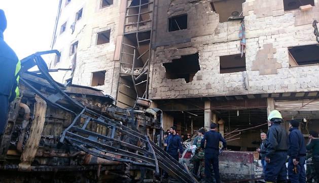 Al menos 58 muertos y 40 heridos tras dos atentados en Damasco