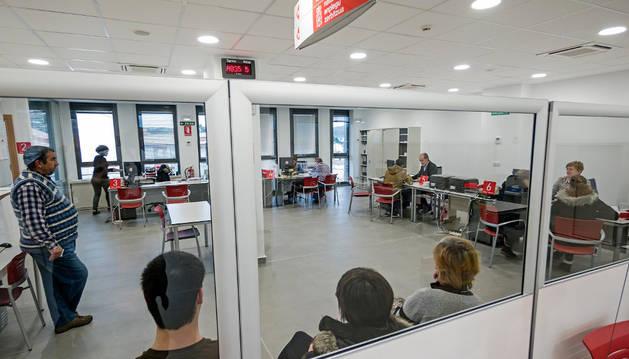 Una imagen de la oficina de empleo de Estella.