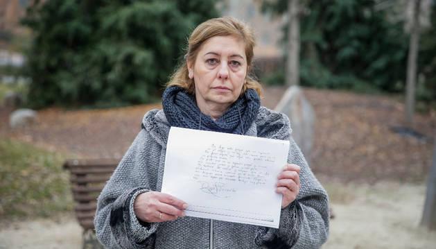 Carmen González, madre de Diego, el niño de once años que se suicidó en Leganés.