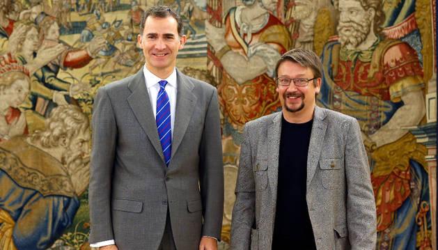 El Rey recibe al portavoz de En Comú Podem, Xavier Domènech.