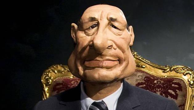 Chirac ya fue protagonista de los guiñoles de la televisión francesa.