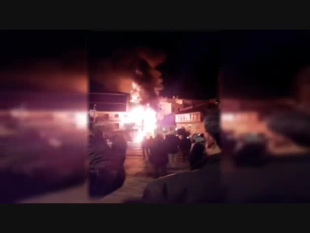 Incendio en el centro de Pontevedra