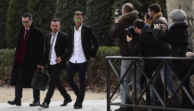 Neymar, a su llegada a la Audencia Nacional.