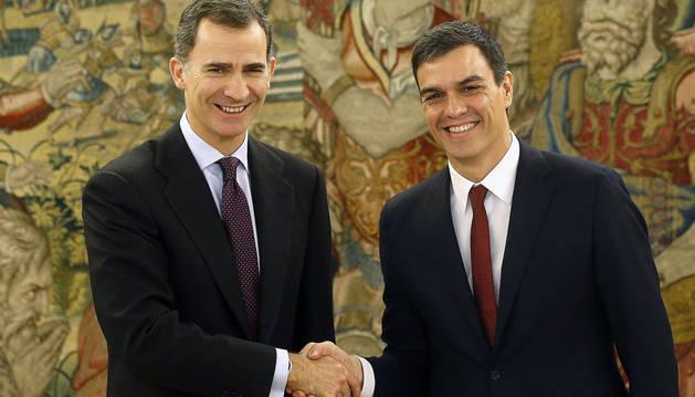 Sánchez expone al Rey la posición del PSOE ante el actual escenario