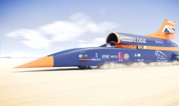El coche supersónico.