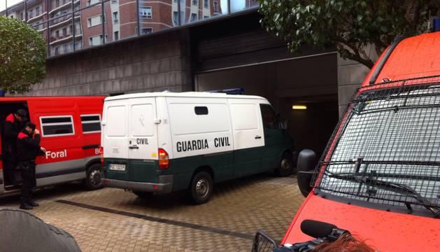 Los Indar Gorri detenidos llegan al Palacio de Justicia