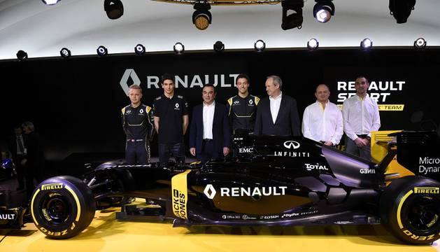 Presentación de la escudería Renault.