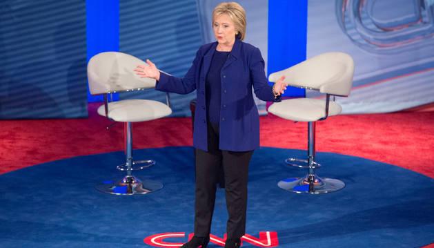 La candidata a la presidencia de EE UU por el partido Demócrata, Hillary Clinton.