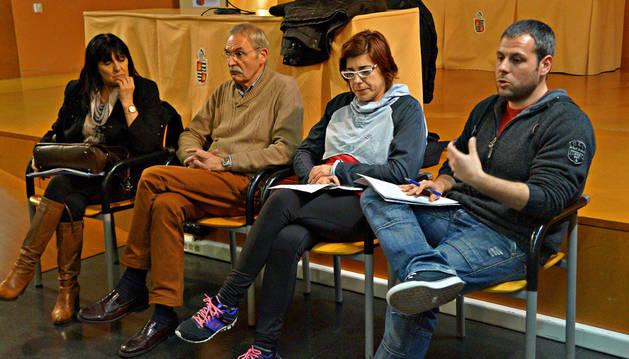 Maite Melero, Joaquín Fernández, Mª Mar Moneo y David Álvarez, durante la reunión.