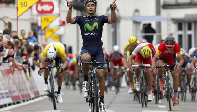 Lobato, en una etapa del Tour de la Valonia.