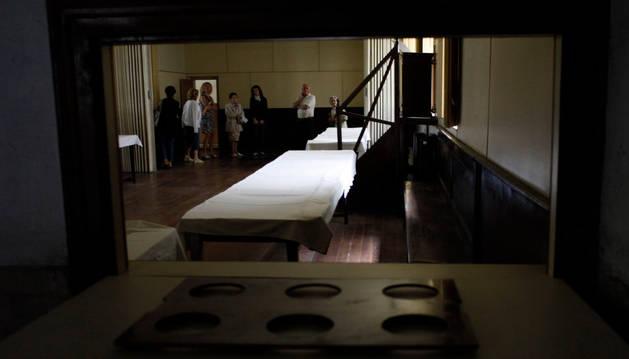 Una de las estancias interiores del convento de las Salesas, durante una visita guiada.