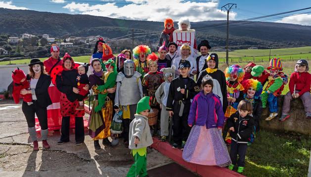 Zudaire es una de las localidades que opta por los disfraces 'variopintos'.