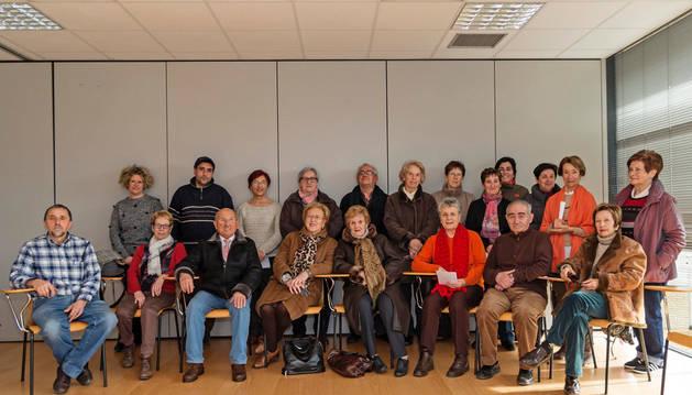 Un buen puñado de miembros de Nagusilán se reunieron para la presentación oficial de su refundación en Estella.