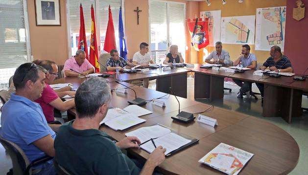 Imagen de archivo de un pleno del Ayuntamiento de Beriáin.