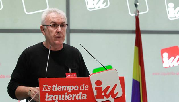 Cayo Lara, durante su intervención en el Consejo Político Federal.