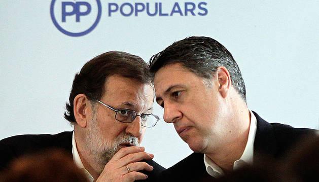 Mariano Rajoy, con Xavier García Albiol.