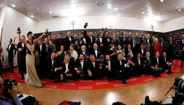 Foto de los premiados en la ceremonia de la 30 edición de los Premios Goya.