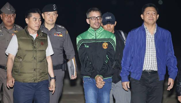 El español Artur Segarra (c), principal sospechoso del asesinato del empresario español David Bernat.
