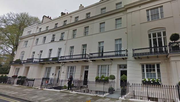 Casa de Margaret Thatcher, ubicada en el número 73 de la calle Chester Square.