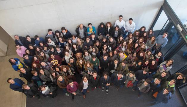 Participantes en la Olimpiada de Filosofía de Navarra.