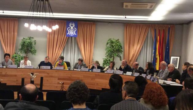 Imagen del último pleno del Ayuntamiento de Barañáin.