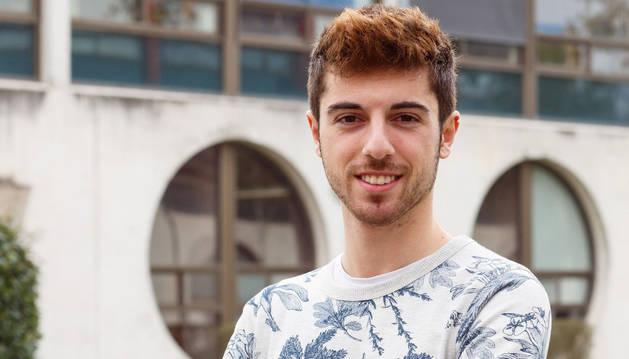 Martín Besné, alumno de la UPNA y ganador del concurso Estudiantes con talento.