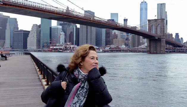 La escritora Julia Navarro en Nueva York.
