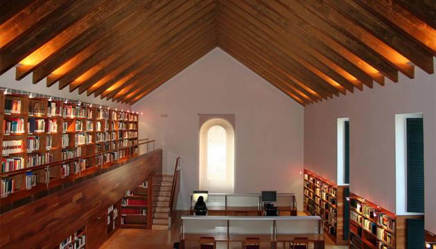 Sala de lectura del  Archivo General de Navarra.