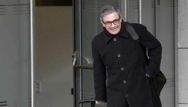 Jordi Pujol Ferrusola, primogénito del expresidente catalán, a su llegada a la Audiencia Nacional.