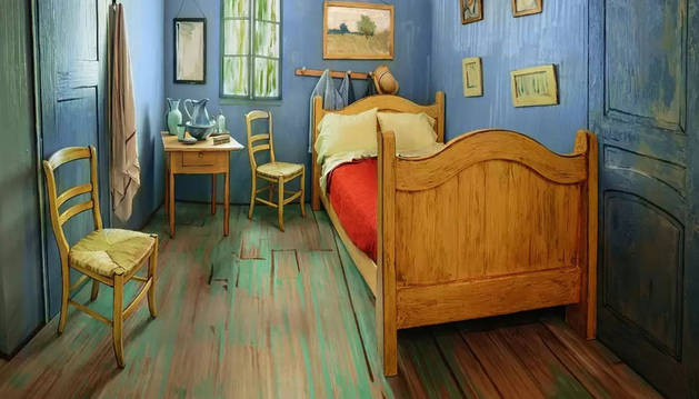 La habitación de la 'casa amarilla' de Van Gogh.