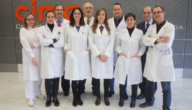 Investigadores de la Universidad de Navarra que han participado en el trabajo.