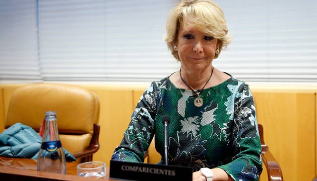 Esperanza Aguirre, en la comisión de corrupción.